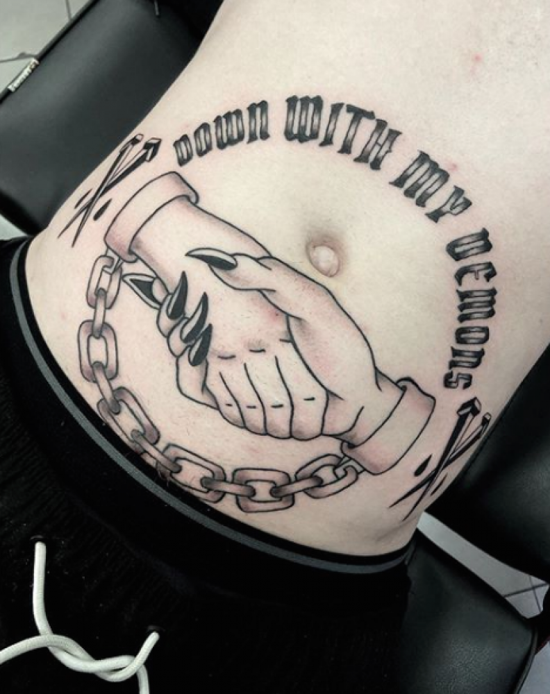 Down With My Demons Tattoo: TOM RATTLE » Victims Of Ink Tattoo Studio